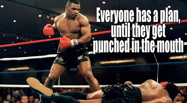 "Mike Tyson - ""everyone has a plan until they get punched in the ..."